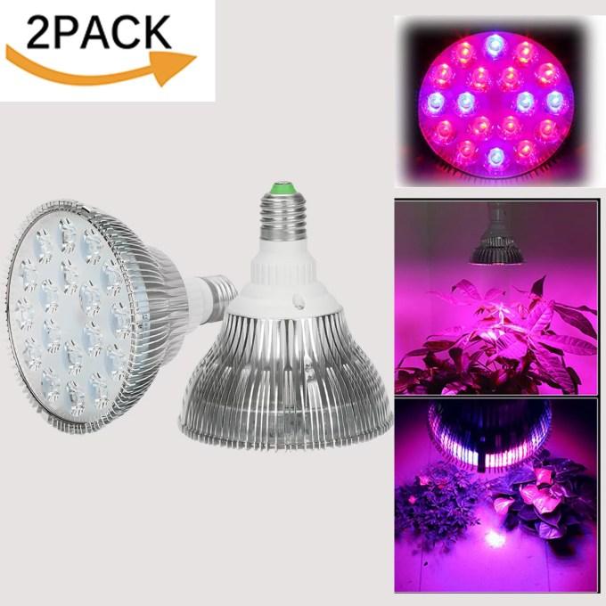 Beamnova 54W E27 LED Plant Growing Lights Bulbs 2Pack LED ...