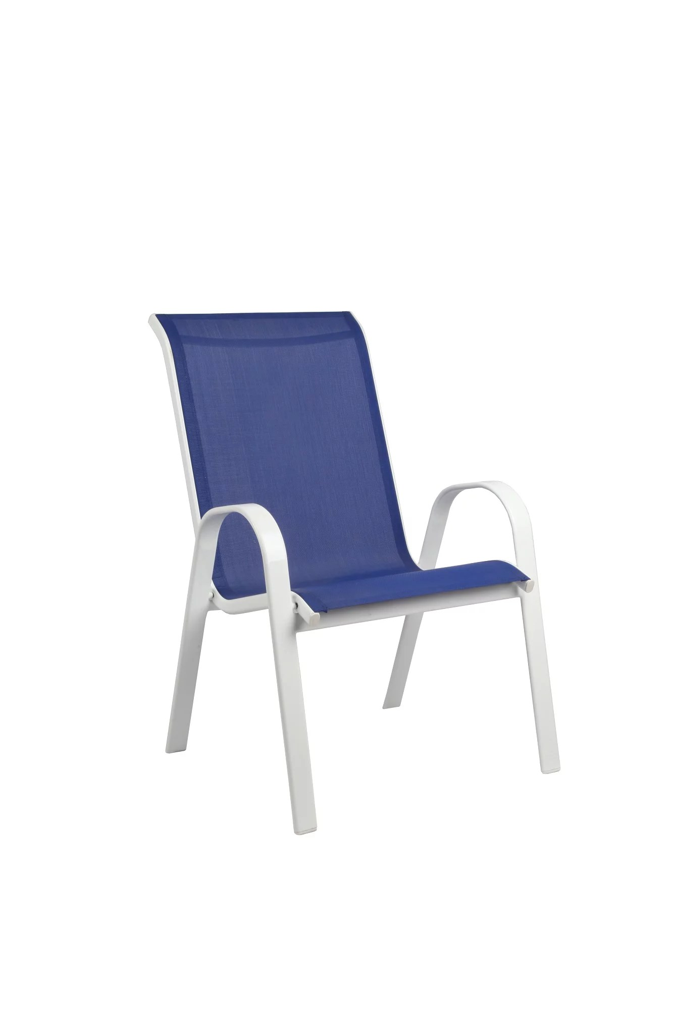 mainstays xl sling chair blue white