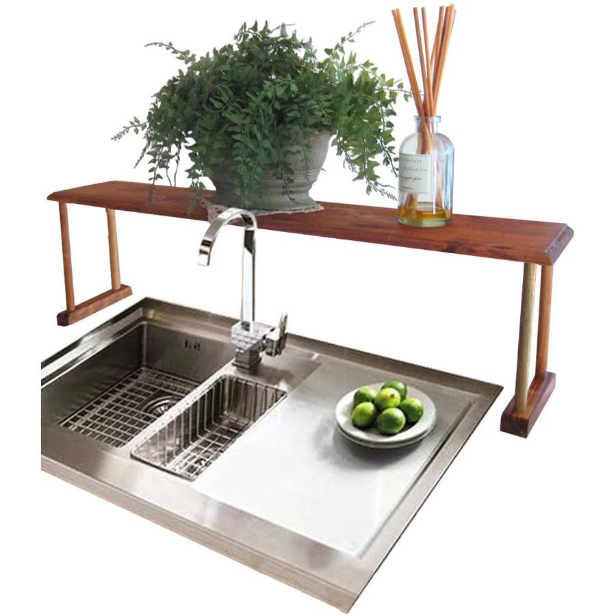 home basics pine over the sink shelf brown walmart com