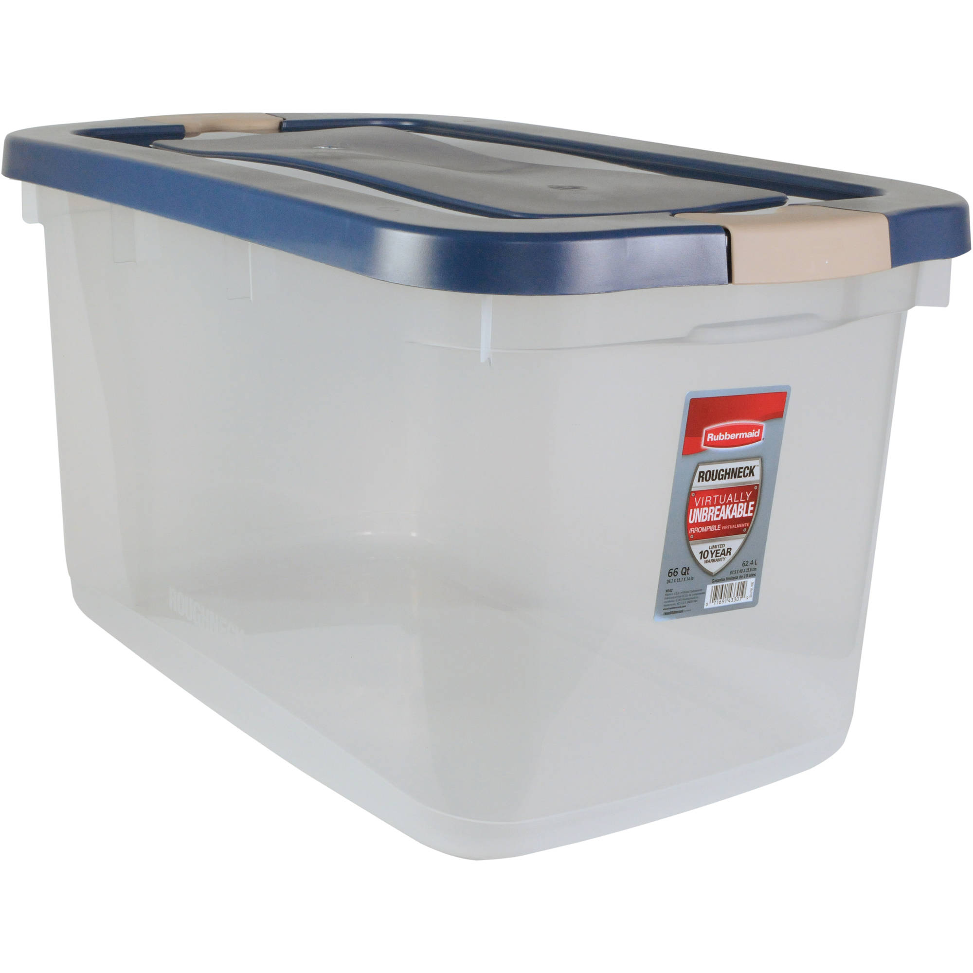 Best Kitchen Gallery: Rubbermaid Roughneck Clear Storage Tote Box 66 Qt Container Latching of Plastic Storage Containers on rachelxblog.com