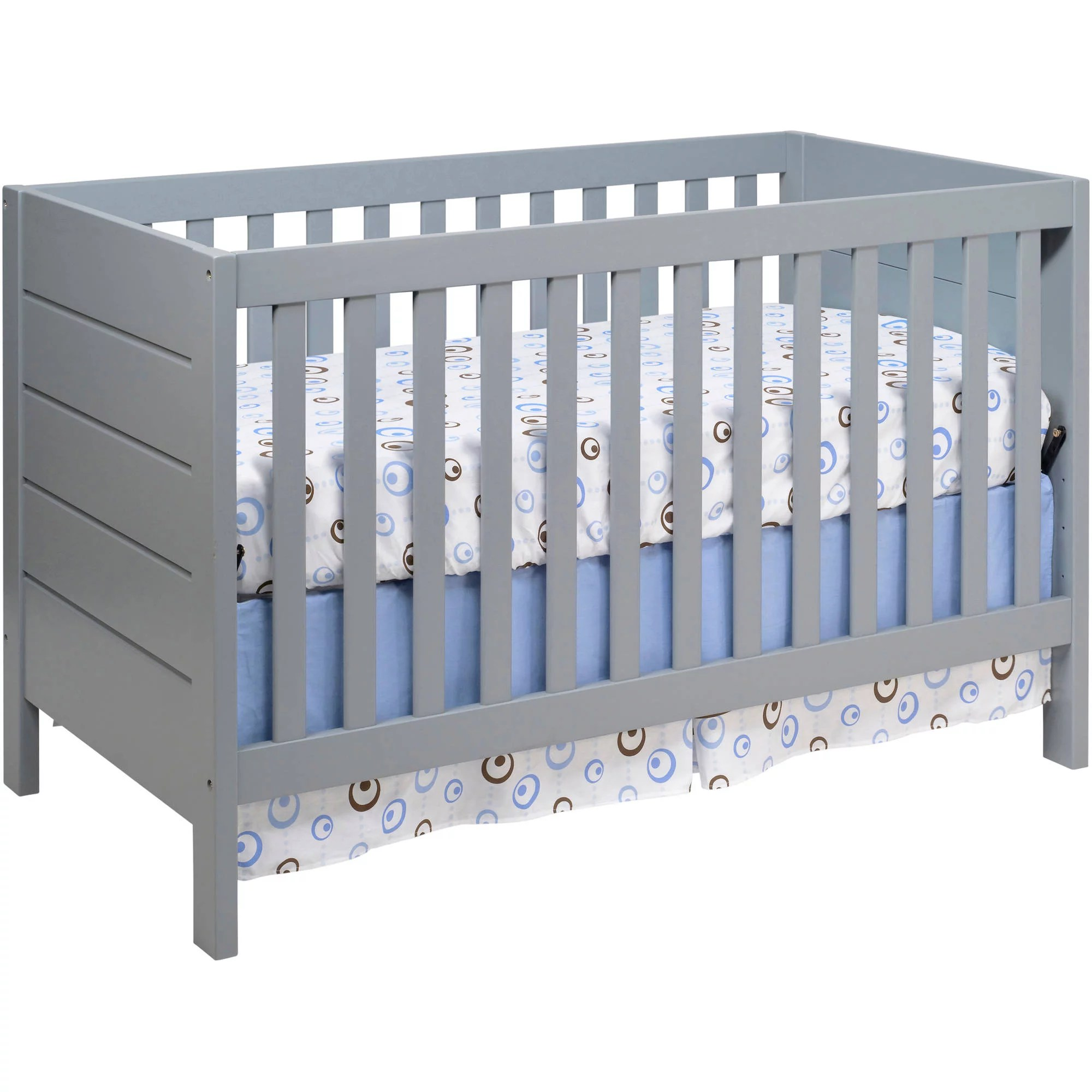 baby mod modena 3 in 1 convertible crib gray walmart com