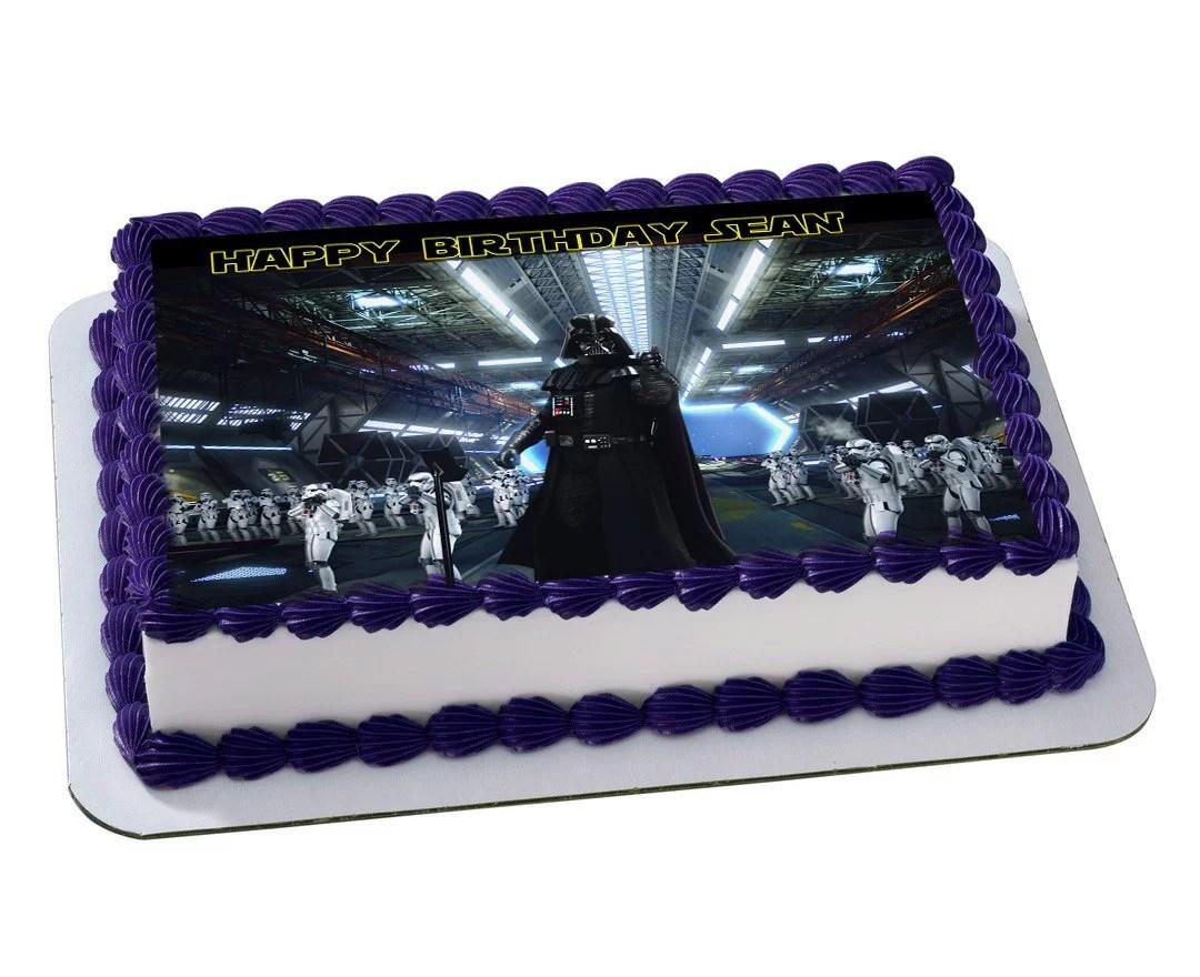 Darth Vader Star Wars Quarter Sheet Edible Photo Birthday