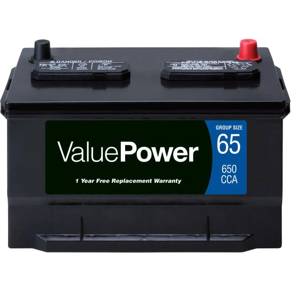 ValuePower Lead Acid Automotive Battery  Group 65   Walmart com