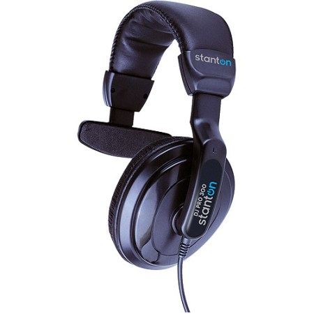 Stanton DJ Pro 300 Single-Sided Headphones with Carry Bag