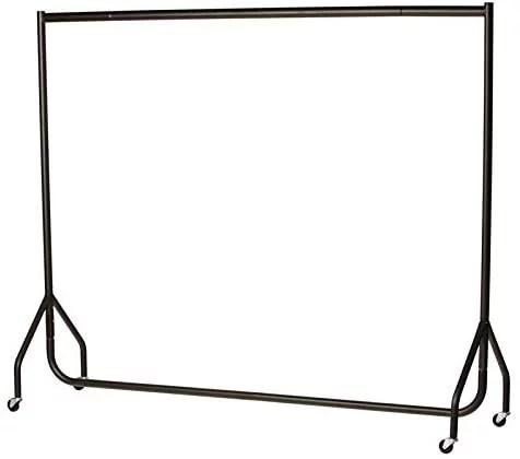 the shopfitting shop heavy duty black clothes rail garment rack 6ft long x 5ft high superior quality
