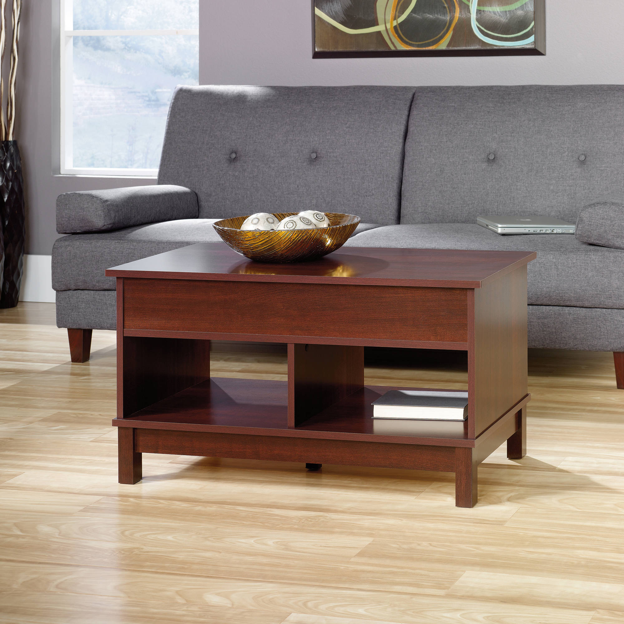 sauder kendall square lift top coffee table cherry walmart com