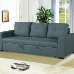Convertible Sofa Bed Bobkona Living Room Sofa W Pull Out Bed
