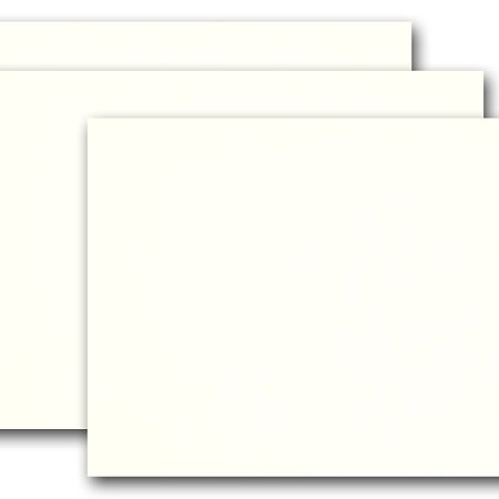 Blank Whip Cream Ivory 5x7 Flat Card Invitations 50 Pack