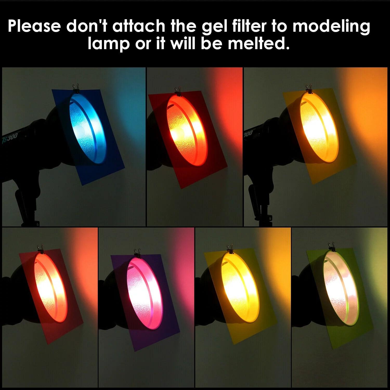14 pieces flash lighting gel filter kit