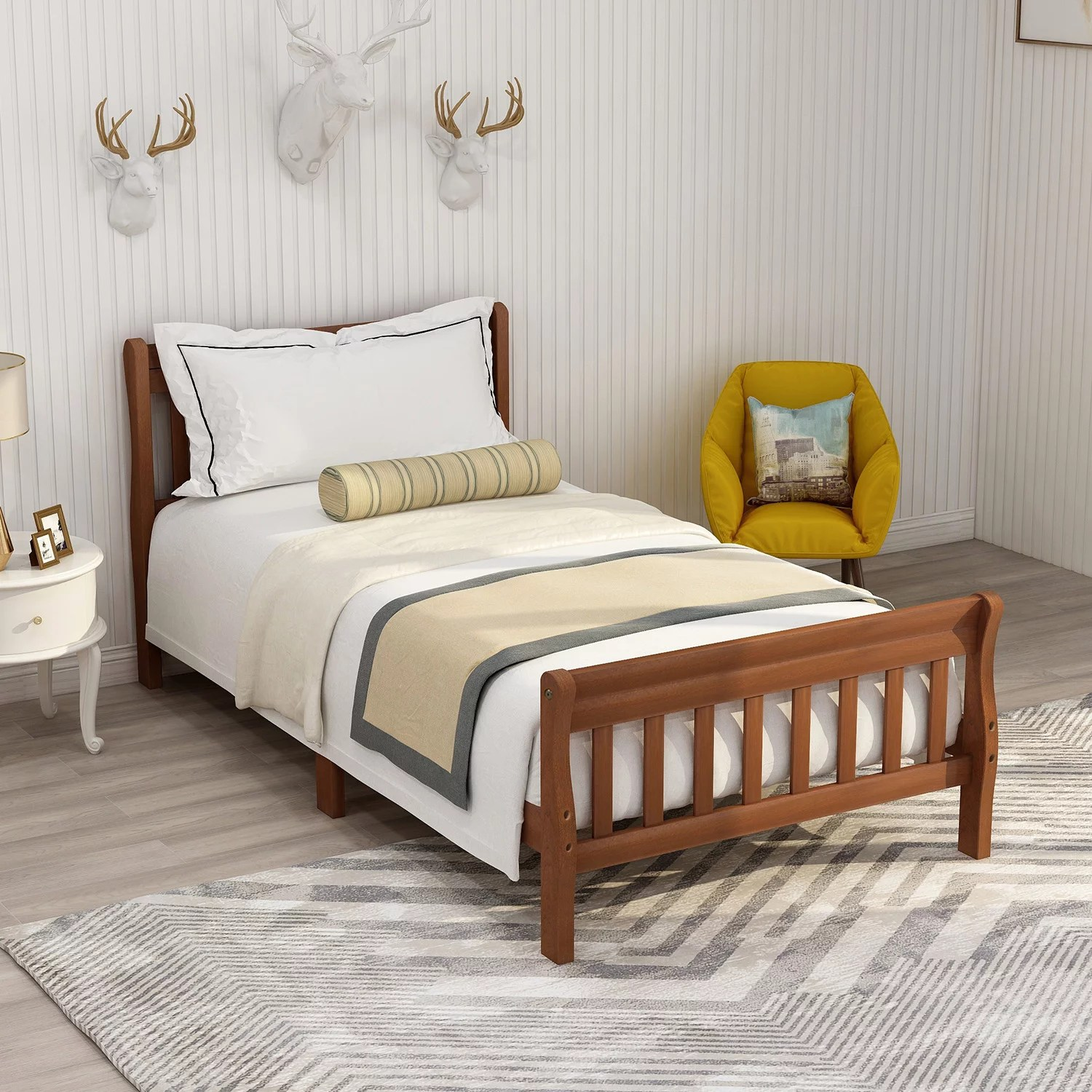clearance twin bed frame no box spring needed wood on walmart bedroom furniture clearance id=87472