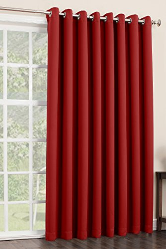 sun zero easton blackout patio door curtain panel 100 x 84 red