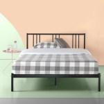 Zinus Sophia 31 Black Metal Platform Bed With Headboard Full Walmart Com Walmart Com
