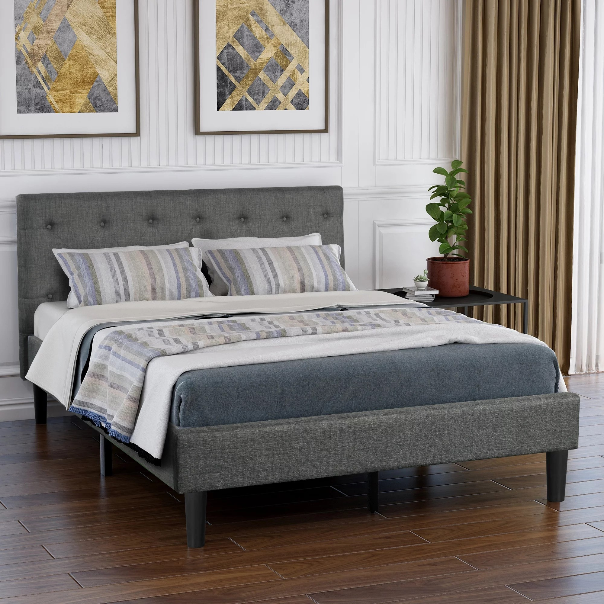 clearance queen bed frame no box spring needed 2020 on walmart bedroom furniture clearance id=30415