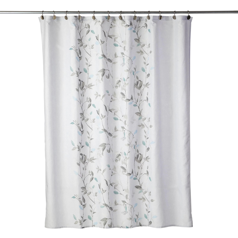 mainstays arbor leaves fabric shower curtain 70 x 72