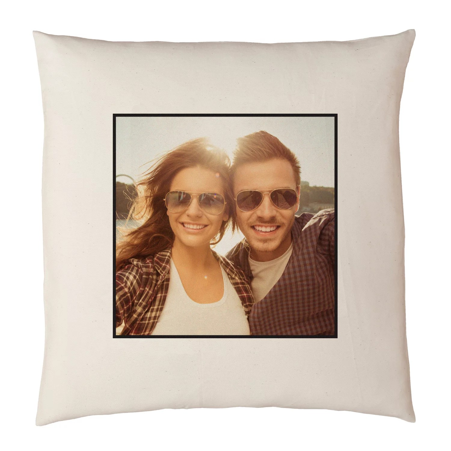 personalized photo accent pillow 15 x15 available in antique border or plain border