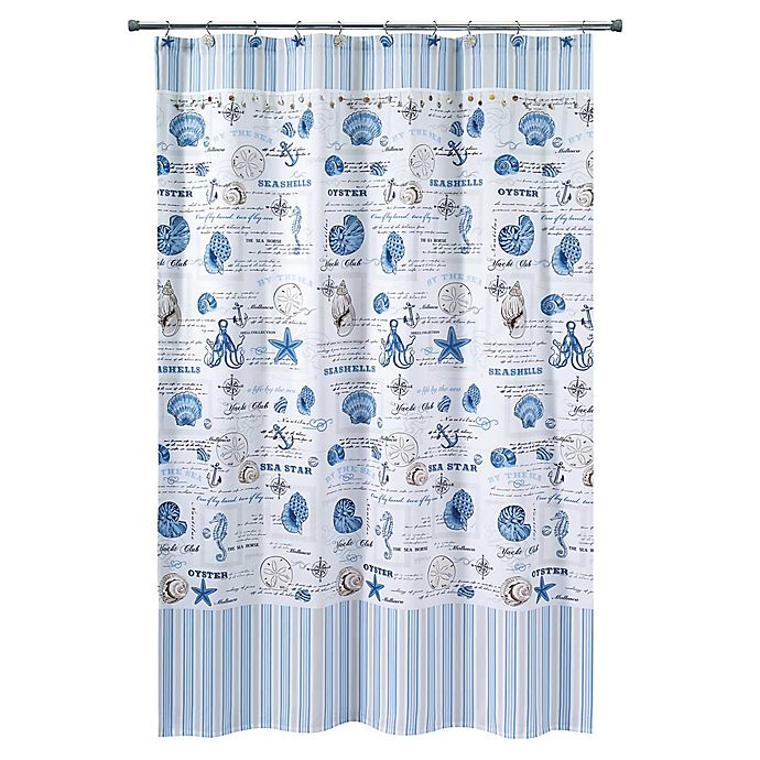 avanti island view 54 inch x 78 inch shower curtain