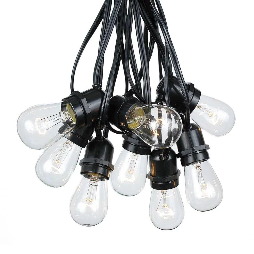 37 5 foot s14 edison outdoor patio string lights market lights 25 bulbs