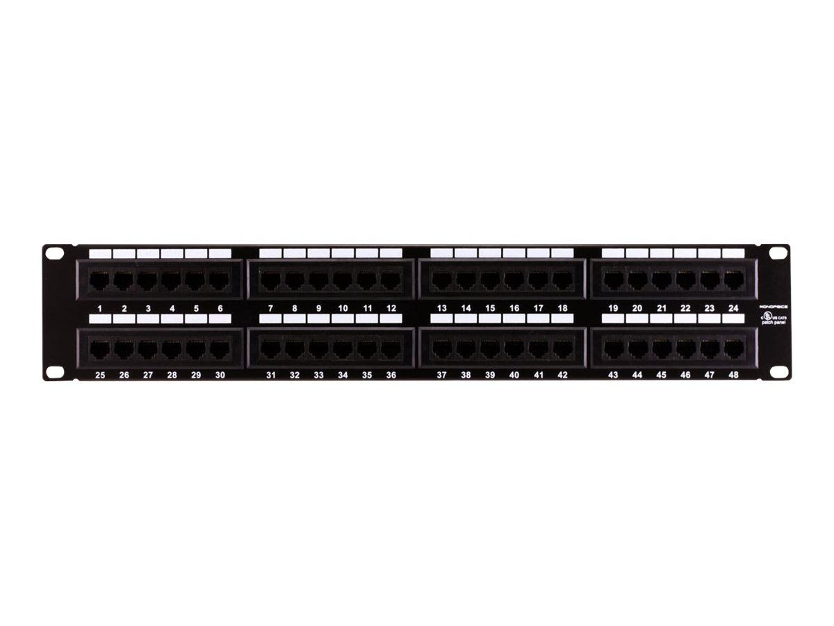 monoprice 48 port cat6 patch panel 110 type 568a b compatible black painted steel panel ul listed walmart com