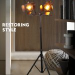 Industrial Tripod Floor Lamp For Living Room Bedroom Vintage Spotlight Reading Lamp With Wooden Metal Legs Nautical Searchlight Floor Lamp For Office Cinema Dorm Without Bulb Walmart Com Walmart Com