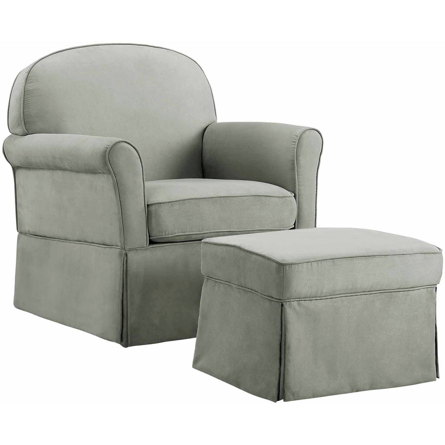 Baby Relax Evan Swivel Glider And Ottoman Gray Walmart Com