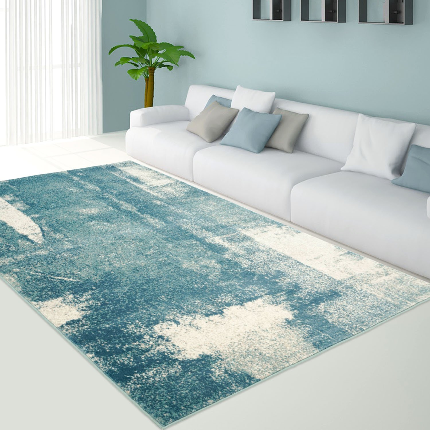 ladole rugs turquoise blue and black grey extra large area rug carpet for living room patio size