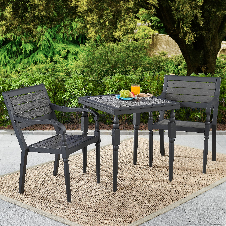 better homes gardens hillsboro 3 piece patio bistro set walmart com