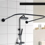 U Shape Adjustable Curved Corner Shower Curtain Rods Pole Bathroom Bars Rail Rod Christmas Gifts Walmart Com Walmart Com