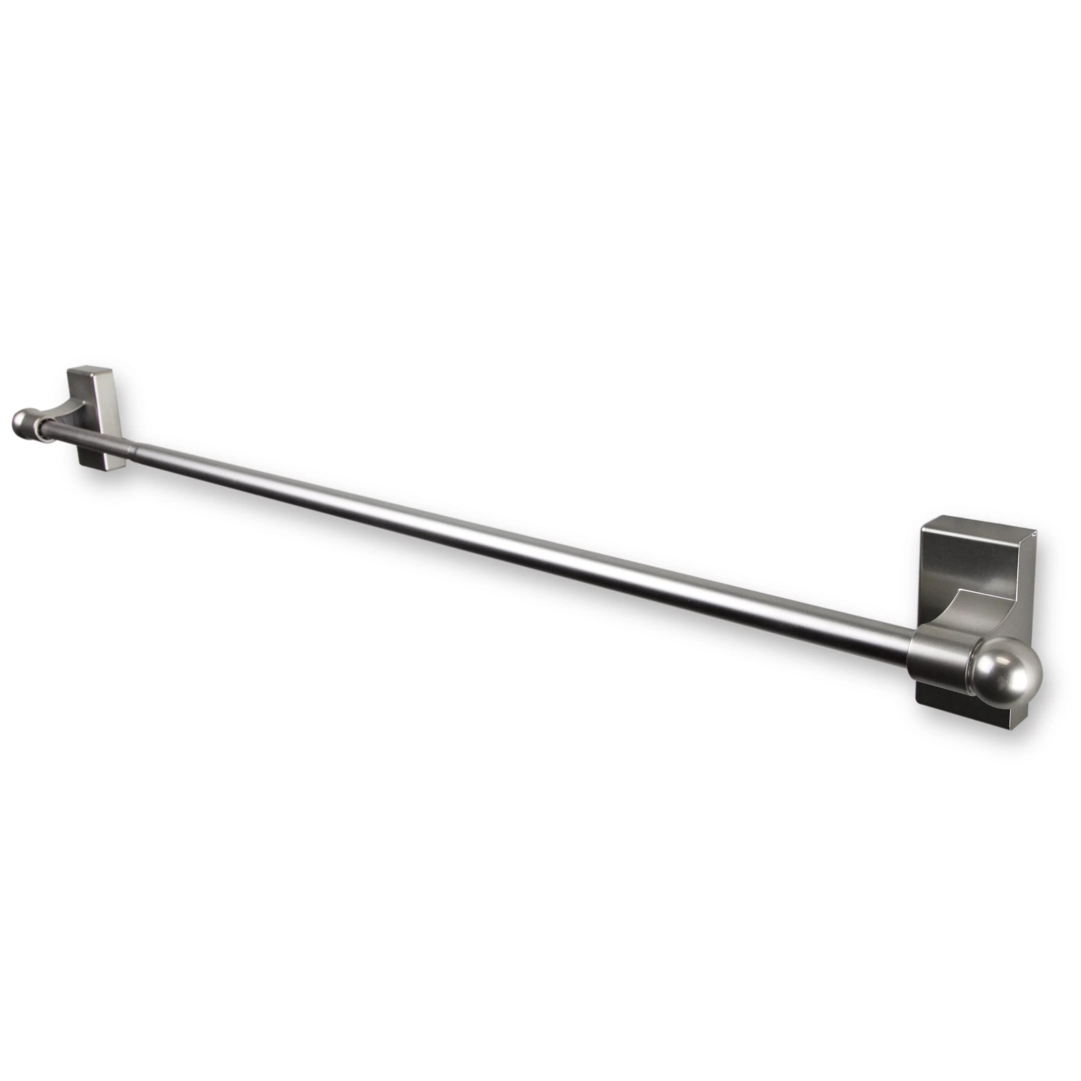 magnetic curtain rod 17 30 satin nickel