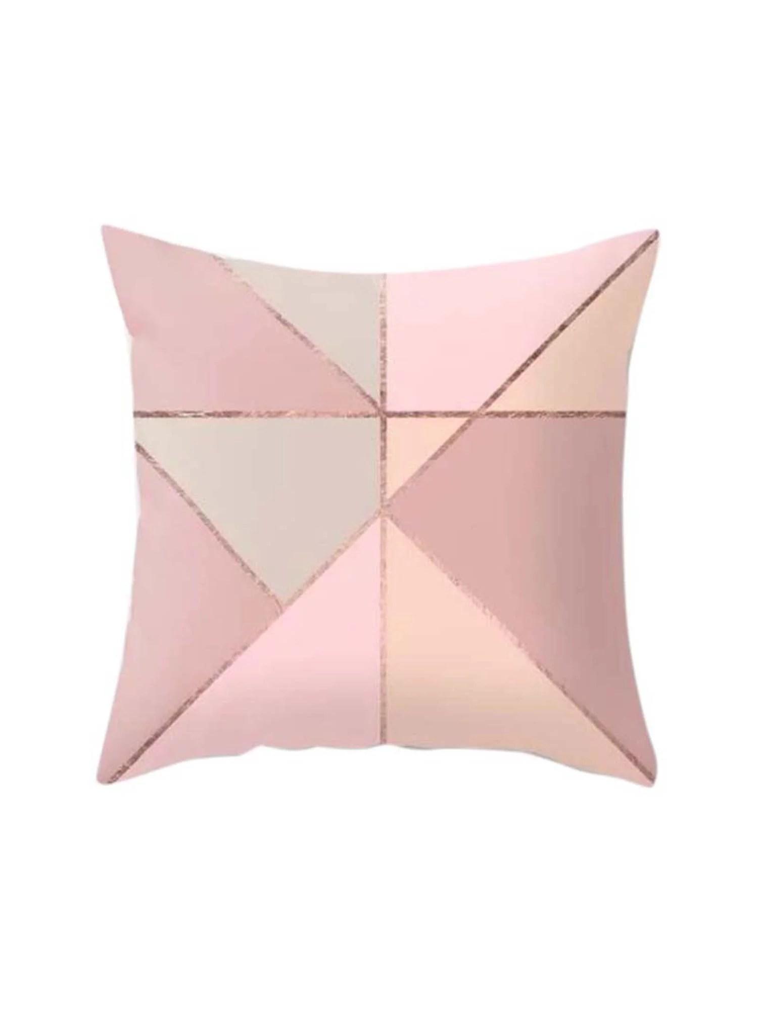rose gold pink throw pillow case cushion cover pillowcase home sofa bed decor