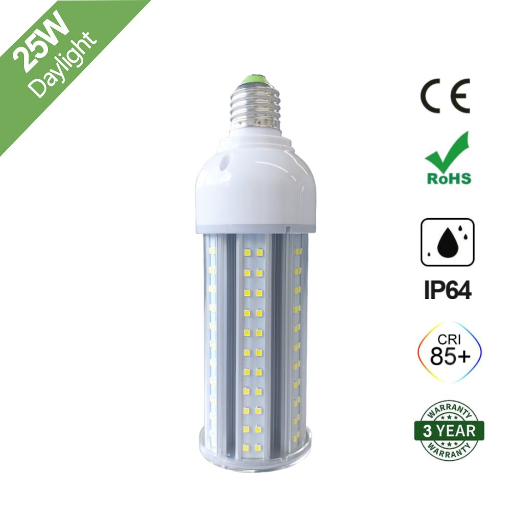 25W LED Corn Light Bulb, E26 Medium Screw Base, 6500K ...