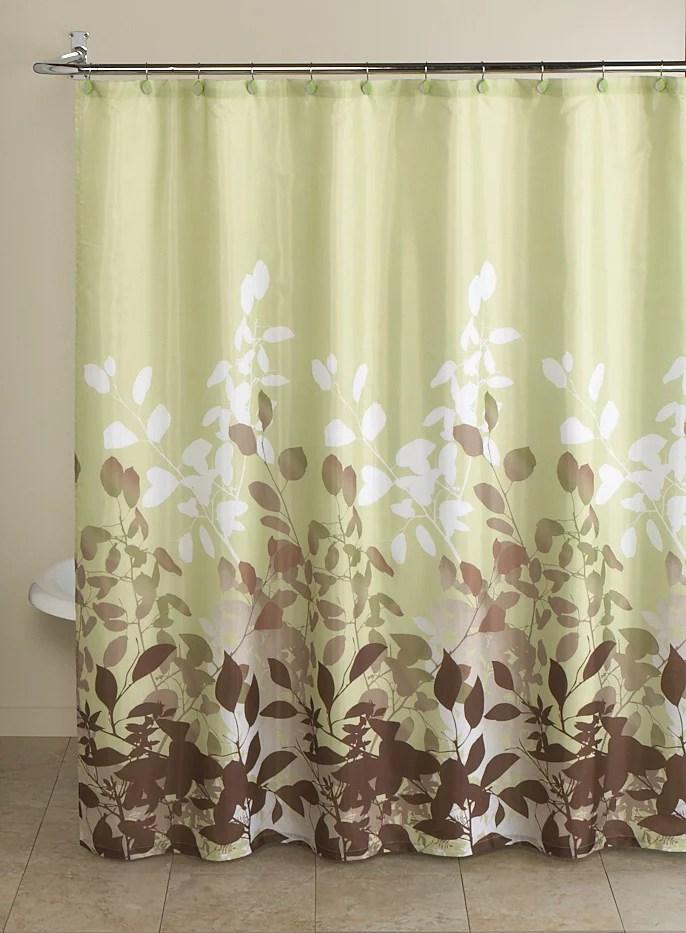 Mainstays Green Botanical Leaf 13 Piece Bath In A Bag Set Shower Curtain And Decorative Hooks