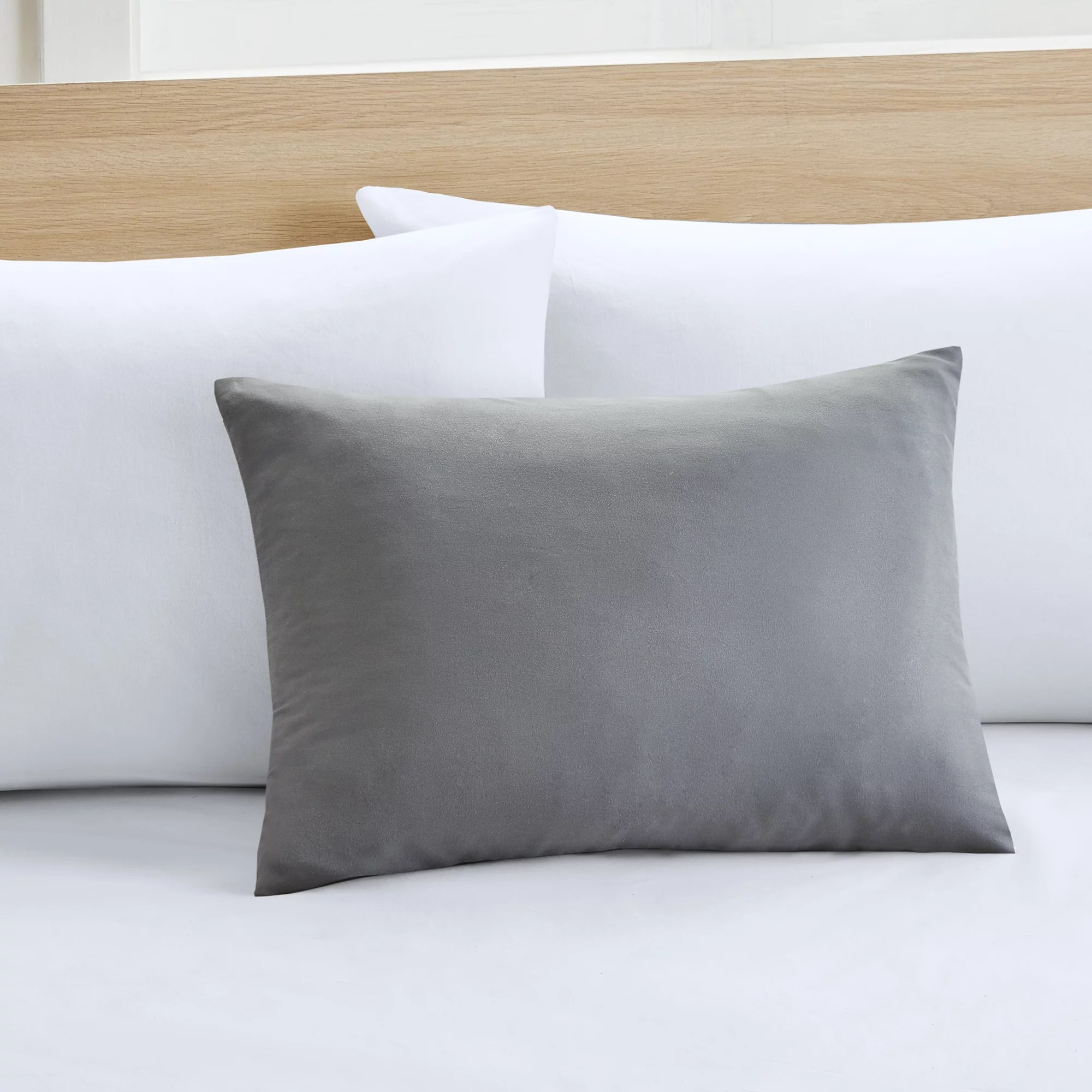 mainstays microfiber solid travel pillow cover 1 each 15 x 20