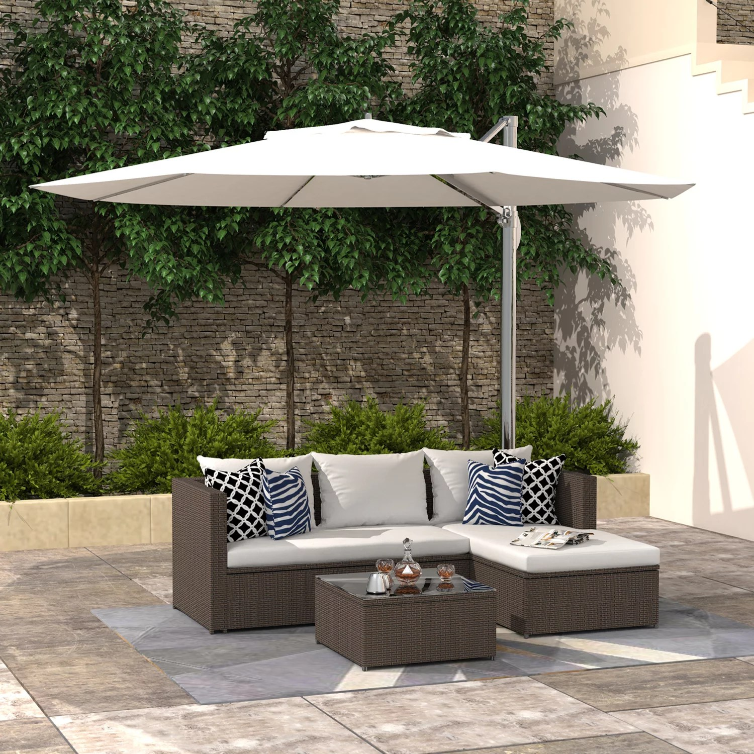 finefind outdoor sectional sofa patio furniture set all weather wicker set for backyard garden balcony or small space