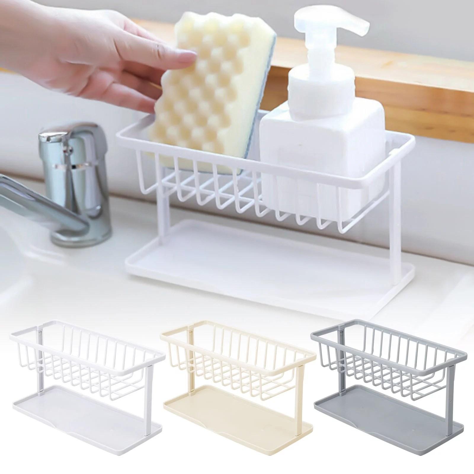 kitchen sink caddy sponge holder kitchen sink tidy holder sink organizer brush soap holder sink tray drainer rack abs plastic sink caddy with