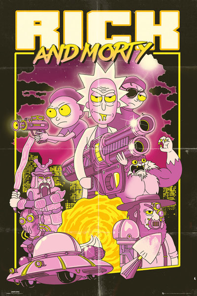 rick and morty tv show poster print action movie size 24 x 36 poster poster strip set