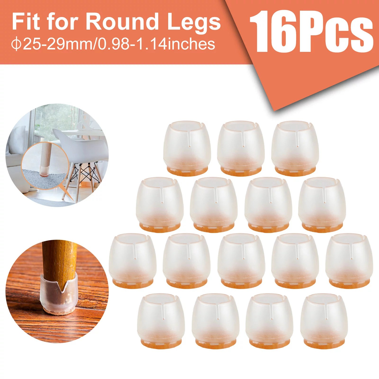 16pcs silicone chair leg caps feet pads furniture table covers floor protector walmart com