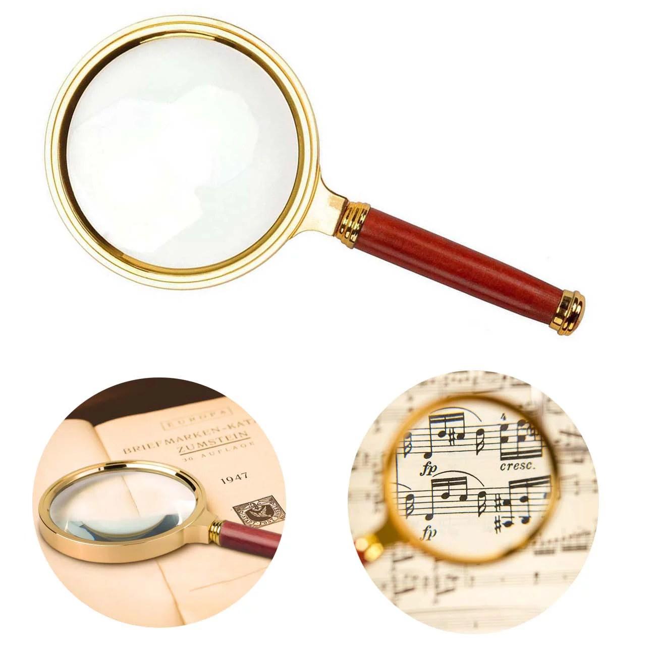 Peroptimist Handheld Magnifier With Rosewood Handle