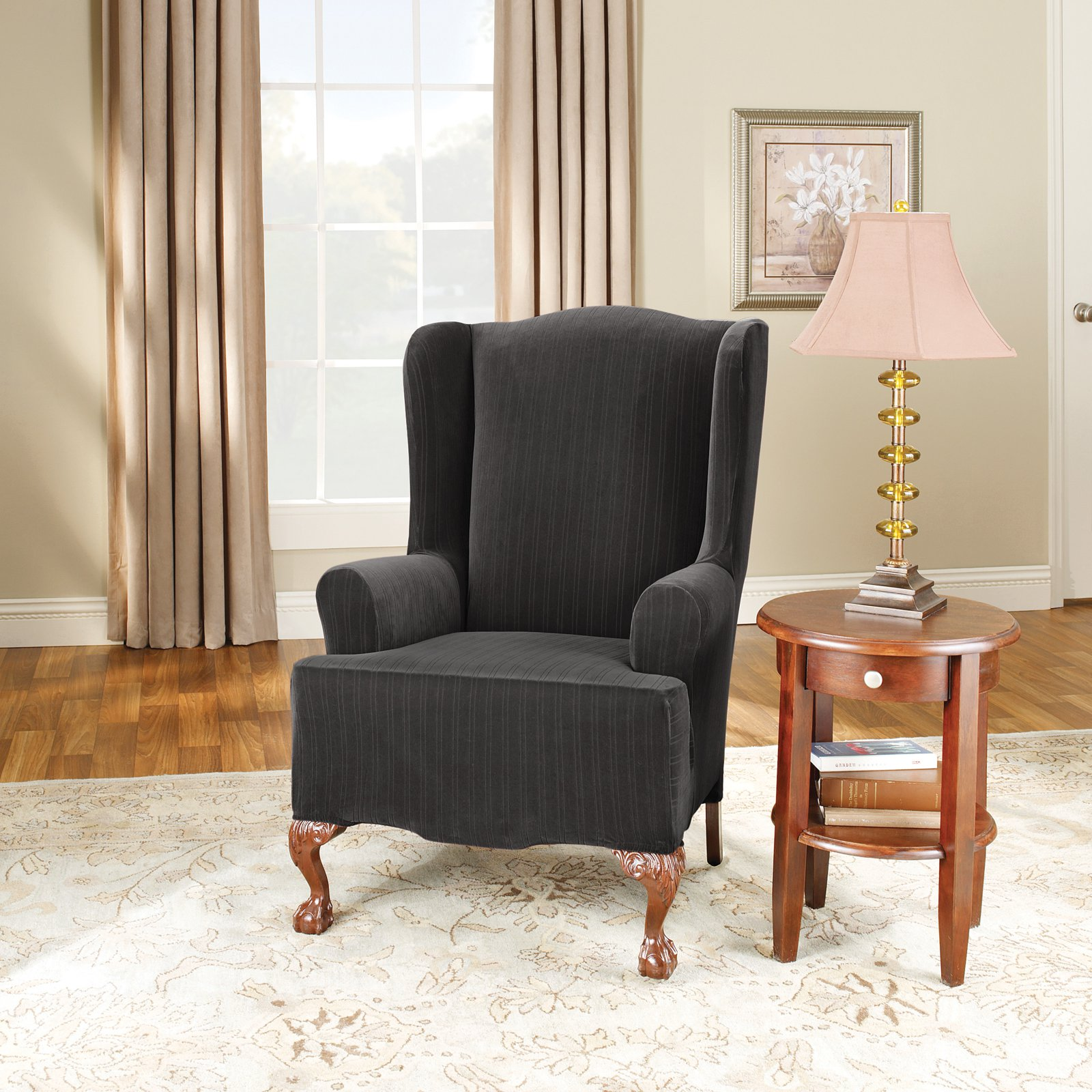 2 Wing Chair Cover Piece