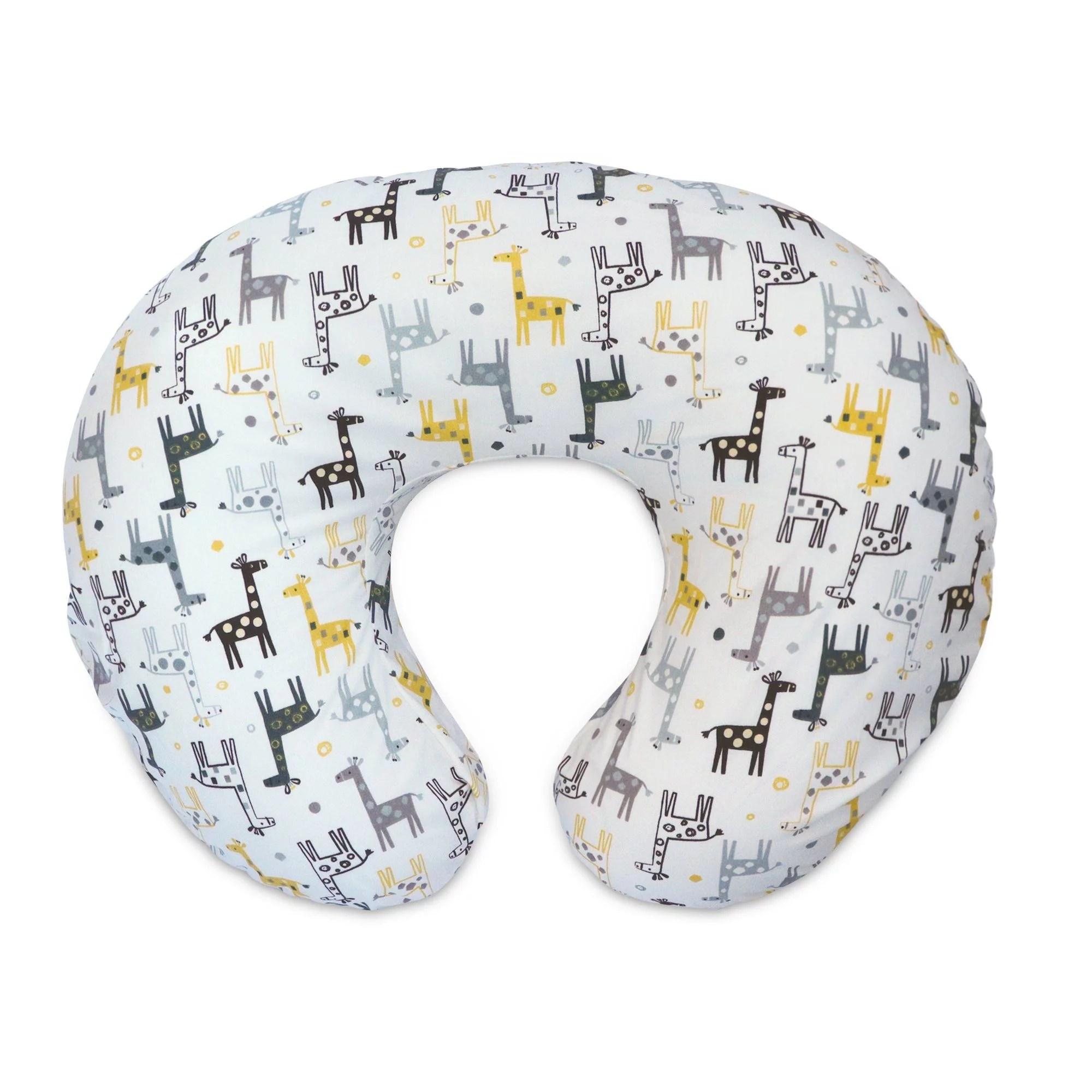 boppy original nursing pillow cover gray gold giraffe