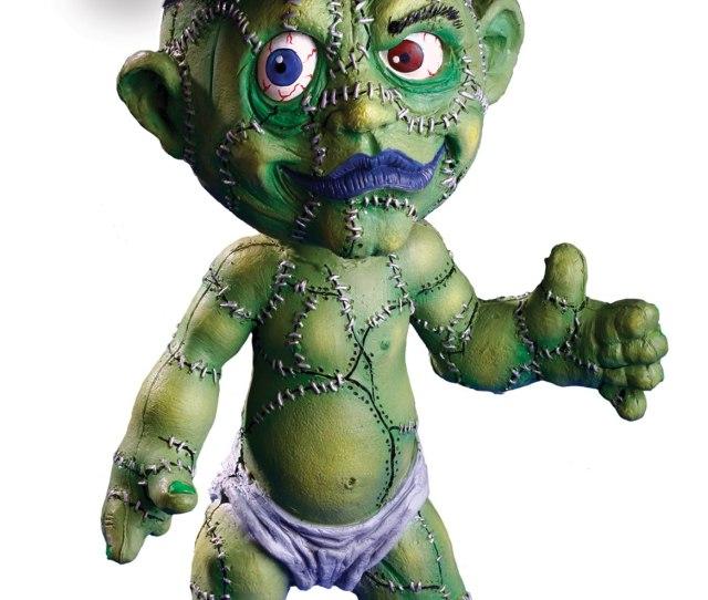 Creepy Green Stitchenstein Zombaby Latex Doll Haunted House Halloween Prop