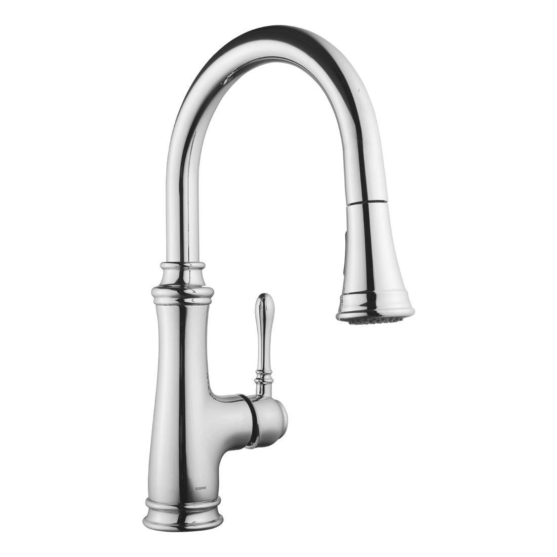keewi single handle kitchen faucet with pull down sprayer pull out kitchen faucet featuring flexing chrome