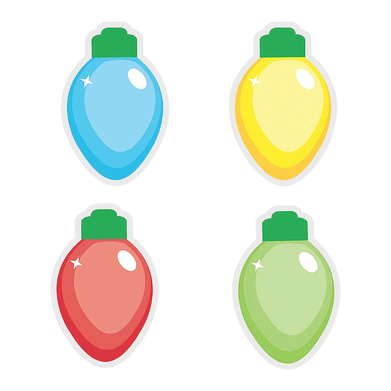 Christmas Light Bulb Bb Cutouts