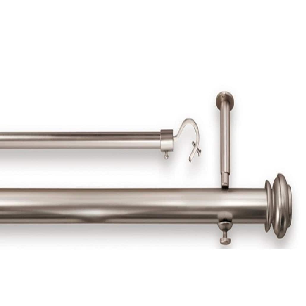 pinnacle bold 74 to 90 inch double rod curtain pole set 90