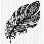Black And White Shower Curtain Boho Leaves Hippie Lifestyle Yoga With Swirls And Curved Ethnic Art Motif Fabric Bathroom Set With Hooks 69w X 75l Inches Long Black White By Ambesonne