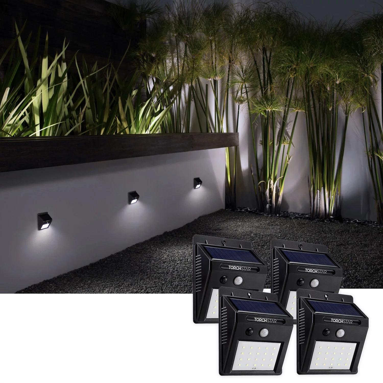 TORCHSTAR LED Solar Motion Sensor Lights, Wireless Outdoor ... on Outdoor Lighting Fixtures Wall Mounted id=94280