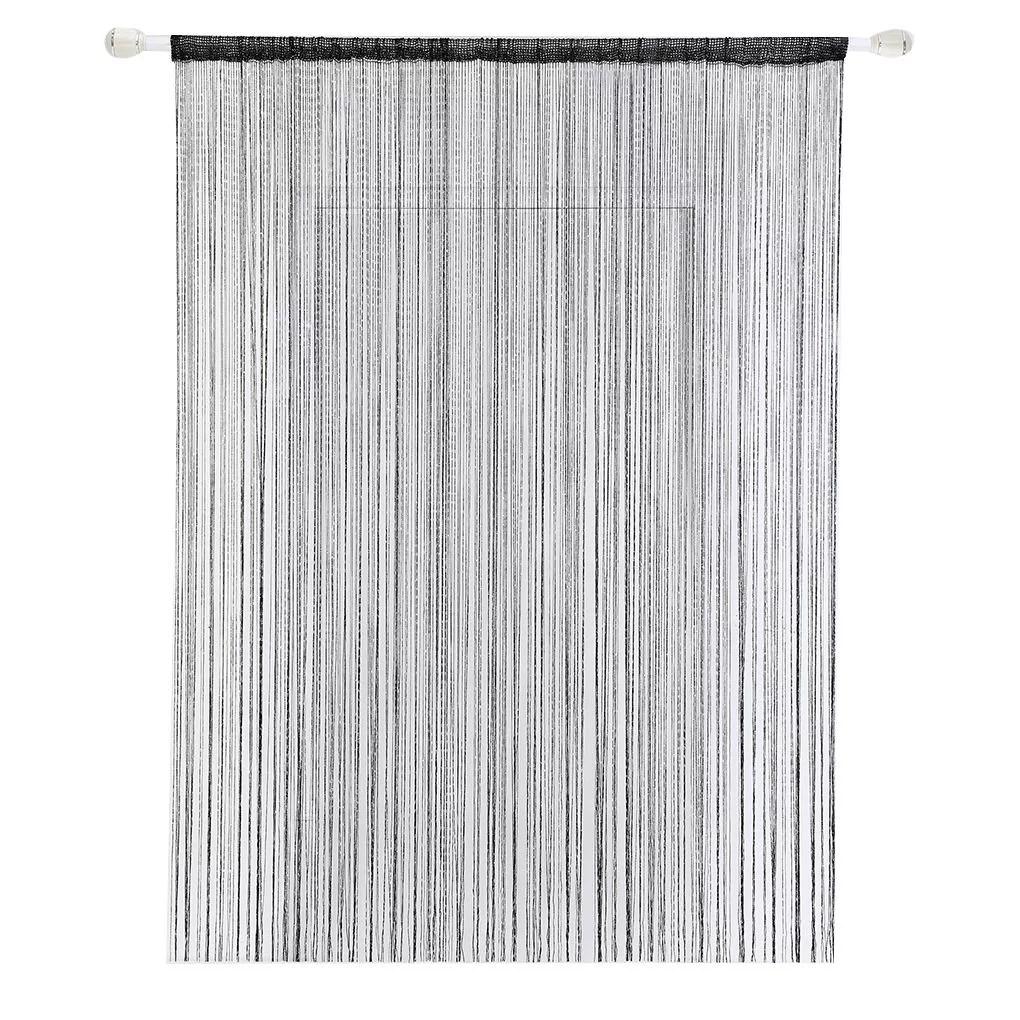 outdoorline 200cm x 100cm door window solid string curtain strip tassel drape divider sheer home decoration valance