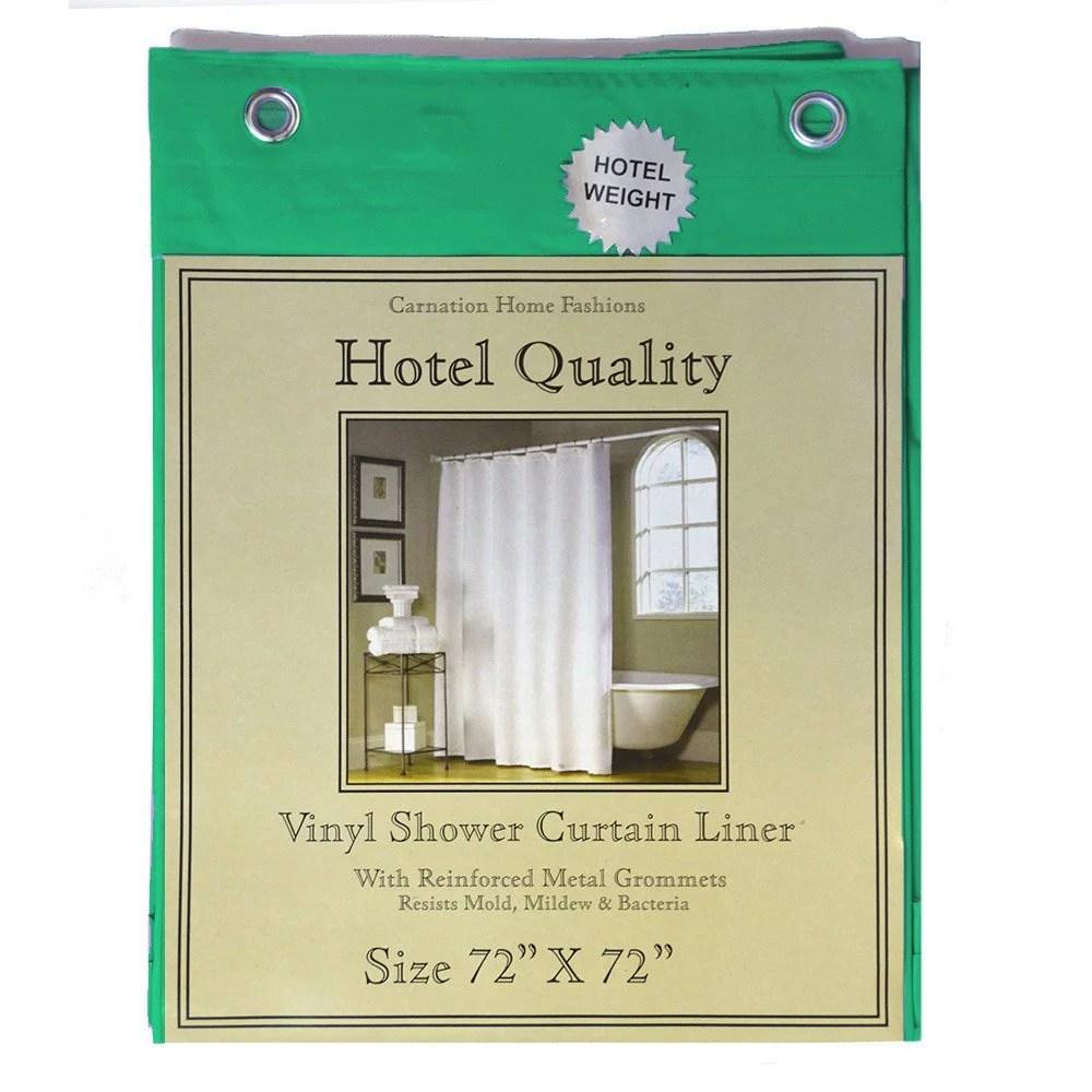 emerald green shower curtain liner hotel weight 8 gauge metal grommets 72 x72