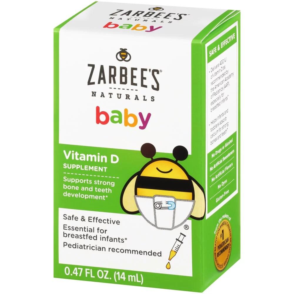 Zarbee's Naturals Baby Vitamin D Supplement 0 .47 Fl. Ounces (1 Box)