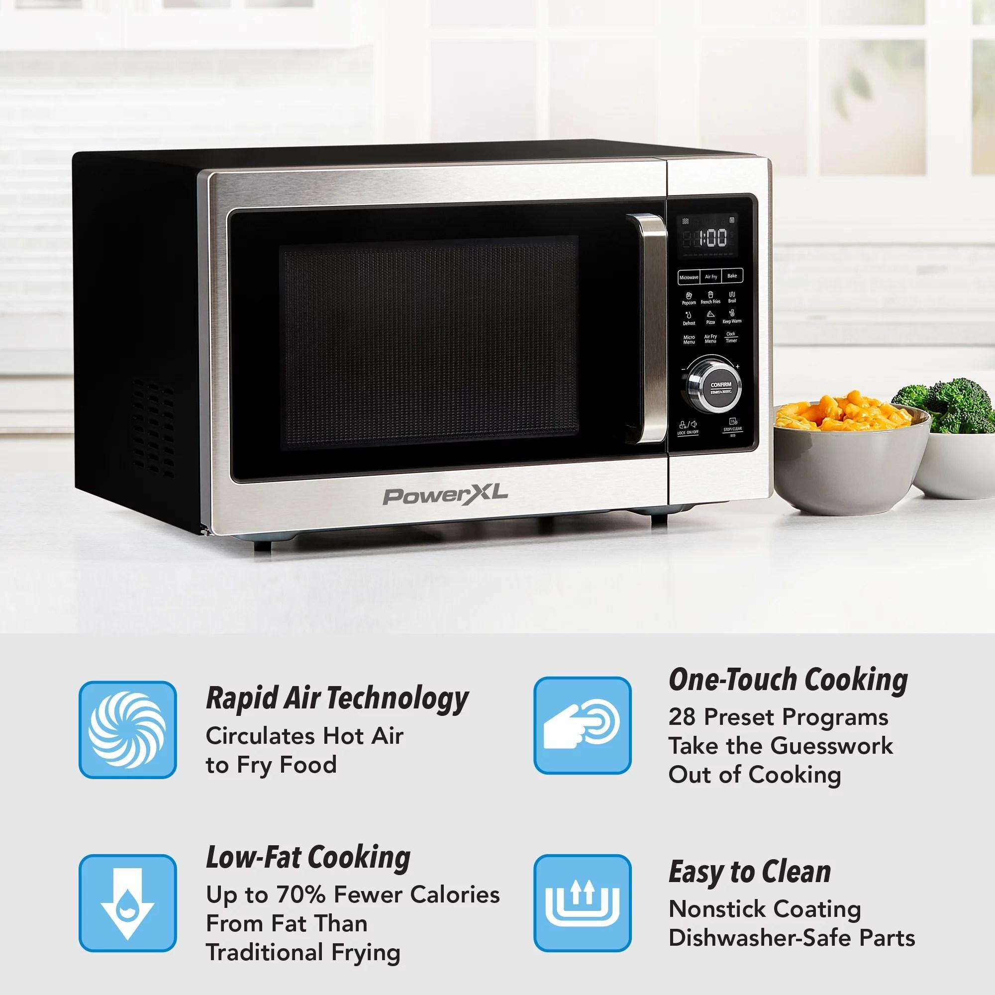 powerxl microwave air fryer plus