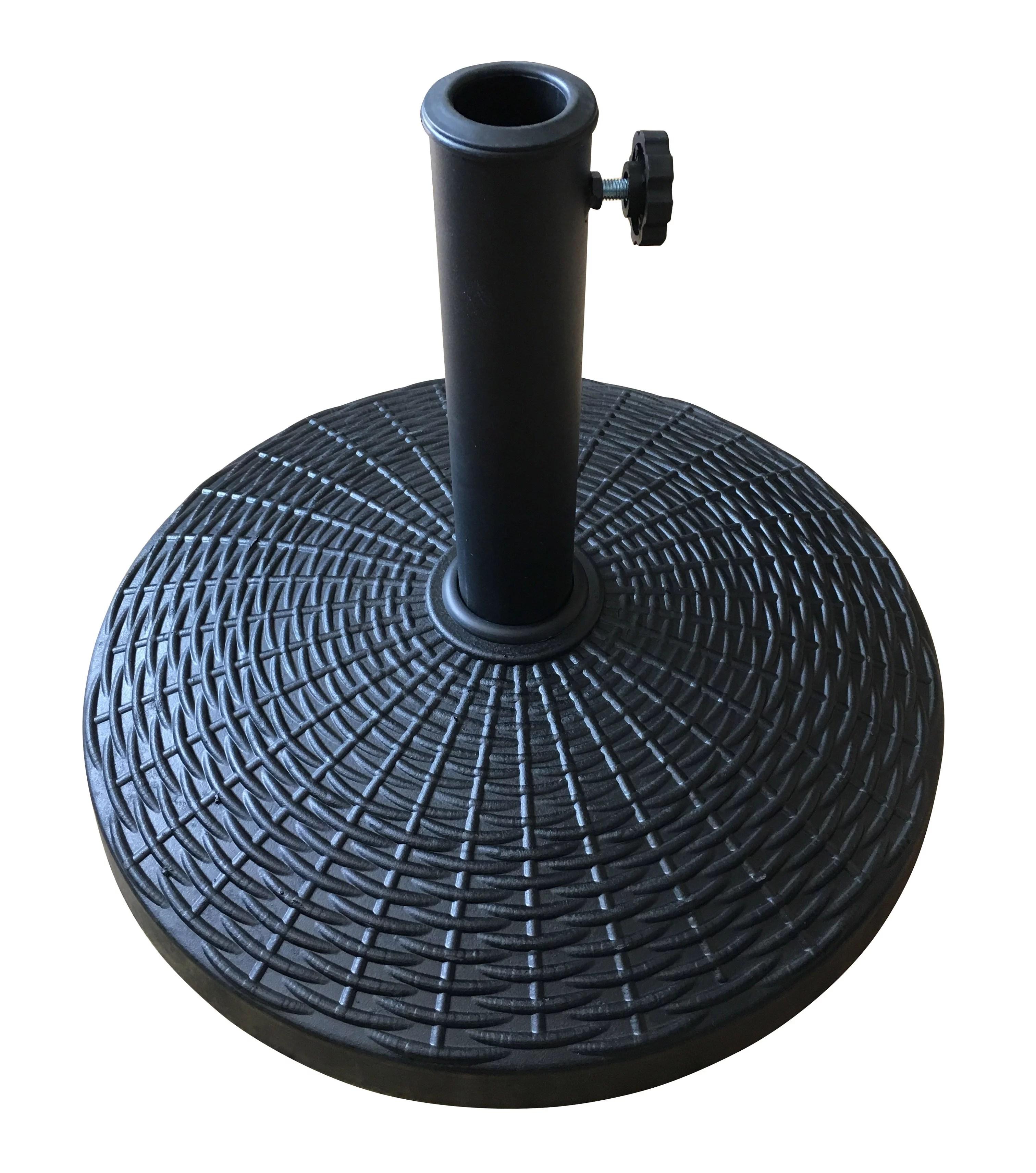 mainstays powder coated umbrella base black